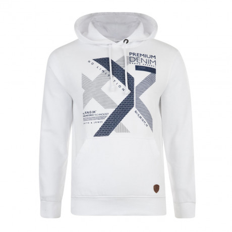 Smith & Jones Kingsnorth Hoodie White