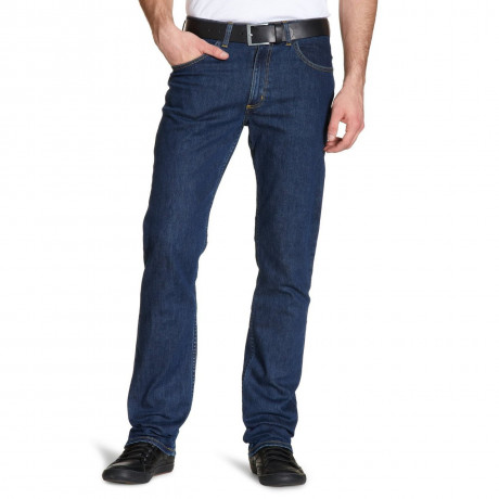 Lee Brooklyn Straight Denim Stretch Jeans Dark Stonewash Image