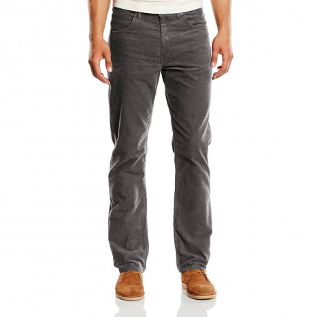 Lee Brooklyn Straight Leg Stretch Cords Charcoal Grey Image