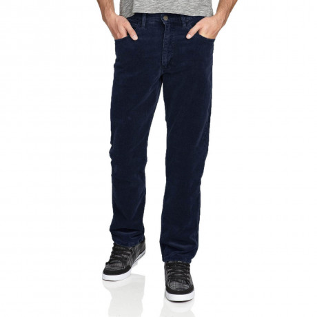 Lee Brooklyn Straight Leg Stretch Cords Navy Blue Image