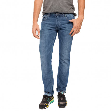 Lee Powell Slim Tapered Faded Blue Legacy Denim Jeans Image