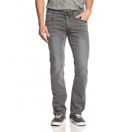 Lee Daren Regular Slim Worn Grayly Faded Denim Jeans Image