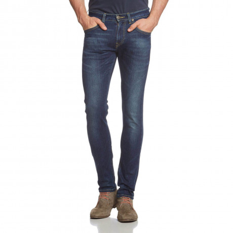 Lee Luke Slim Tapered Fit Denim Jeans Night Sky Blue