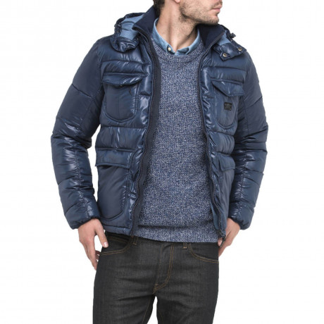 Lee Shiny Puffer Jacket Navy Blue Image