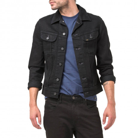 Lee Rider Denim Jacket Clean Black