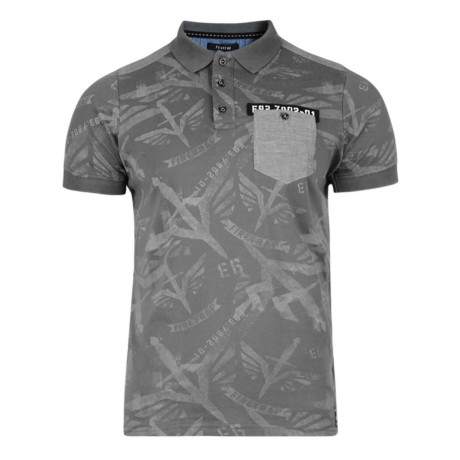 Firetrap Men's Polo Shirt Lowden Dark Shadow