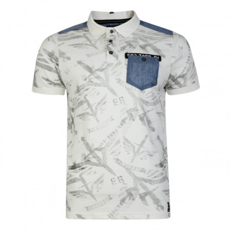 Firetrap Men's Polo Shirt Lowden Ecru