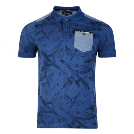 Firetrap Men's Polo Shirt Lowden Olympian Blue