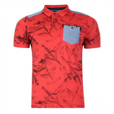 Firetrap Men's Polo Shirt Lowden Red
