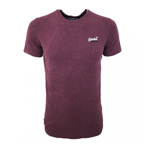 Superdry Crew Neck Vintage Embroidery T-shirt Burgundy Marl