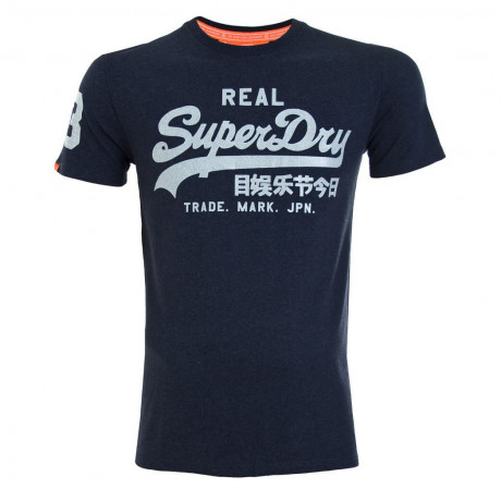 Superdry Crew Neck Vintage Logo Entry T-shirt Rinse Navy