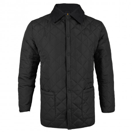 Soul Star Dimond Quilt Jacket Black Image