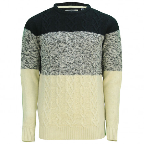 Soul Star Crew Neck Caspian Knitted Jumper Black