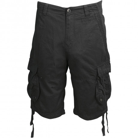 Soul Star Casual Cotton Cargo 101 Bermuda Shorts Black