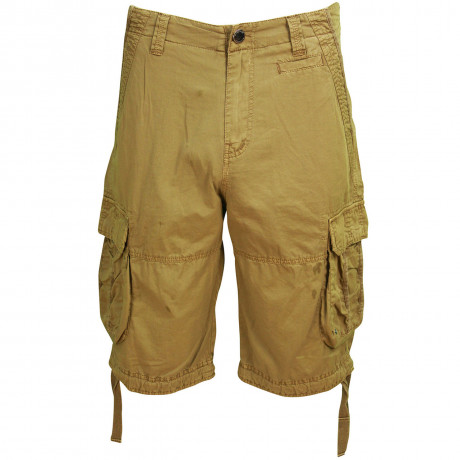 Soul Star Casual Cotton Cargo 101 Bermuda Shorts Sand