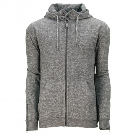 Soul Star Elwood Zip Up Hooded Sweatshirt Charcoal
