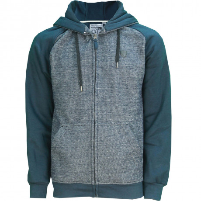 Soul Star Casual Zip Up Otto Hooded Sweatshirt Navy