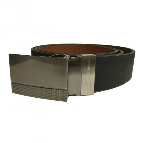 French Connection Formal Plaque Reversible Belt Black Tan