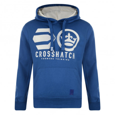 Crosshatch Nucleus Hoodie Nautical Blue