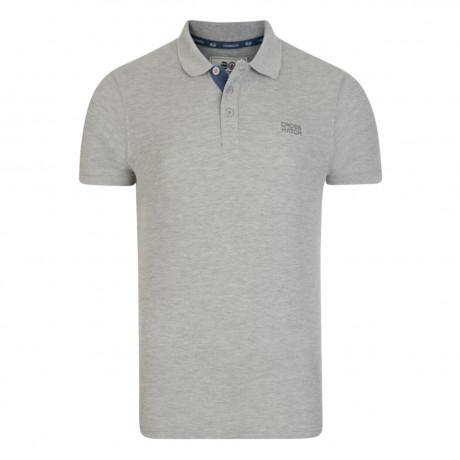 Crosshatch Pelekus Men's Polo Shirt Shirt Grey