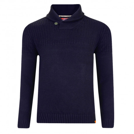 Tokyo Laundry Shawl Neck Perico Knitted Jumper Dark Navy