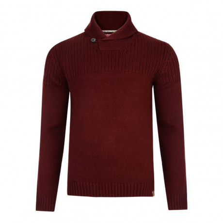 Tokyo Laundry Shawl Neck Perico Knitted Jumper Oxblood