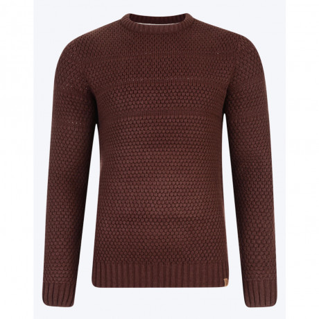 Tokyo Laundry Crew Neck Pyramid Knitted Jumper Chocolate