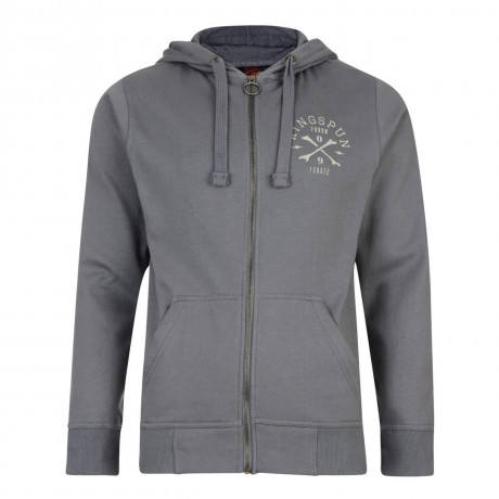 Ringspun Ratchet Zip Up Hoodie Grey