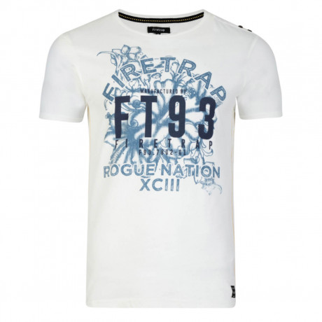 Firetrap Crew Neck Rusper Print T-shirt Jetstream