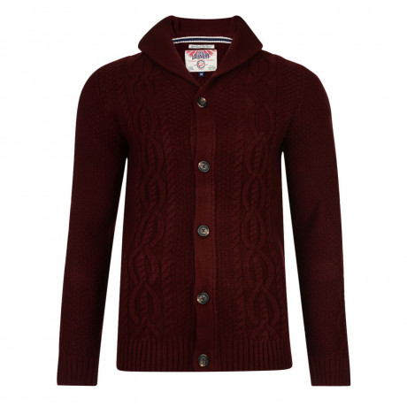 Tokyo Laundry Silverton Knitted Button Cardigan Oxblood