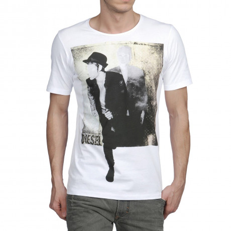 Diesel T-7 Man Crew Neck Print T-shirt White