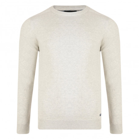 Threadbare Beijing Crew Neck Cotton Jumper Snow Marl