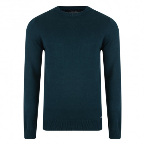 Threadbare Beijing Crew Neck Cotton Jumper Teal