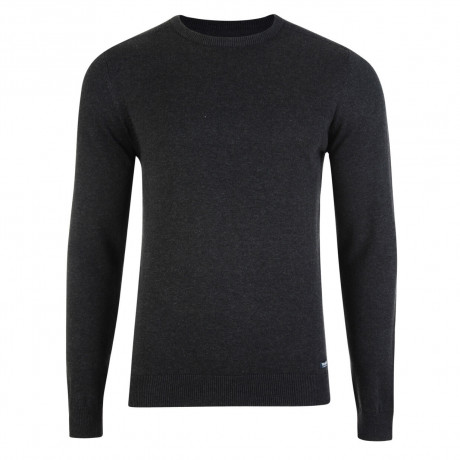Threadbare Beijing Crew Neck Cotton Jumper Charcoal