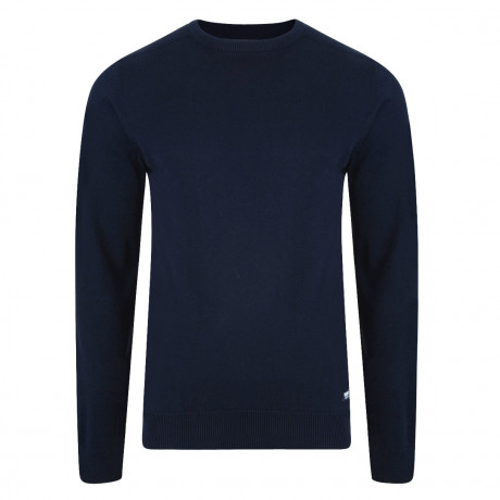 Threadbare Beijing Crew Neck Cotton Jumper Navy