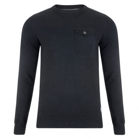 Threadbare Toronto Crew Neck Cotton Jumper Black