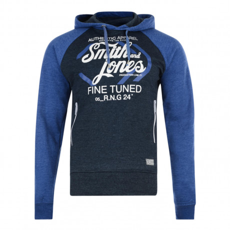 Smith & Jones Titanium Hoodie Navy Marl