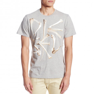 Diesel T-Elko Crew Neck Print T-shirt Grey