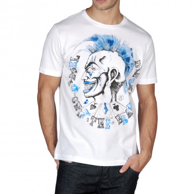 Diesel T-Moiclown Crew Neck Print T-shirt White