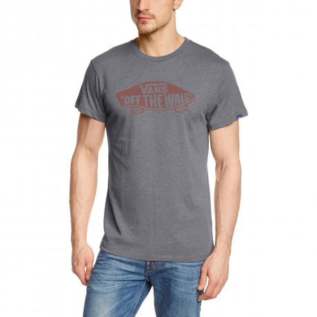 Vans Off The Wall Crew Neck Print T-shirt Heather Grey Image