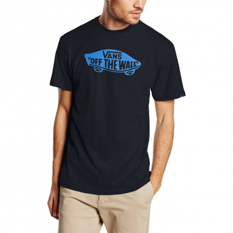 VANS Off The Wall Crew Neck Print T-shirt Navy French Blue
