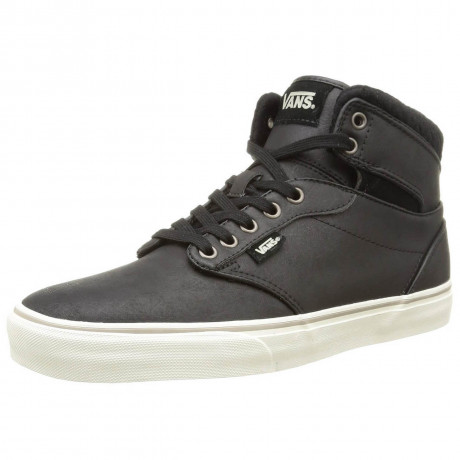 Vans Atwood High Top Leather Shoes Black Image