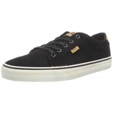 Vans Bishop Canvas Trainers Black White Image