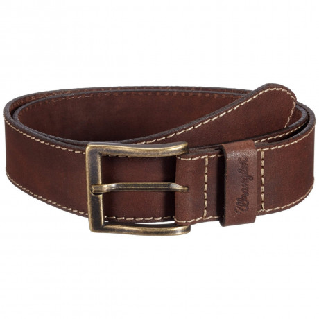 Wrangler Stitched Leather Belt Light Brown