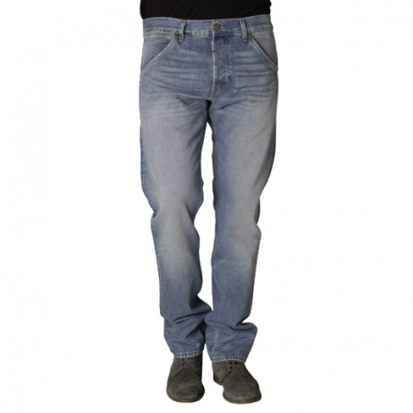 Wrangler Ben Tapered Denim Jeans Exposure Blue Image
