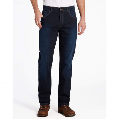 Wrangler Texas Stretch Denim Jeans Get Worn In Image