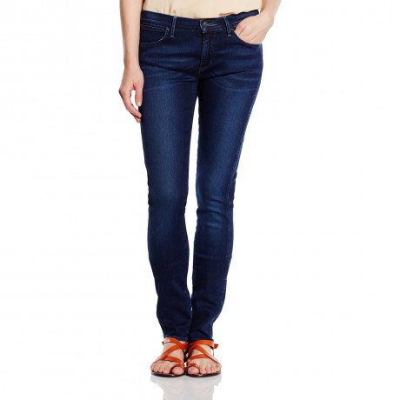 Wrangler Corynn Skinny Stretch Jeans Blown Away Blue Image