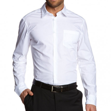 Esprit Slim Fit Long Sleeve Plain Shirt White