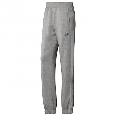 adidas Originals Trefoil Fleece Pants Grey Navy