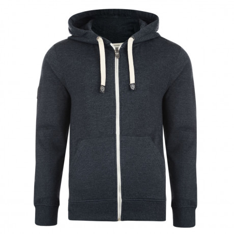 Smith & Jones Dursley Full Zip Hoodie Navy Blue Marl